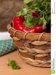 Fresh Vegetables In A Basket Royalty Free Stock ...