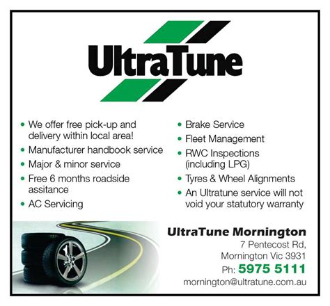 Ultra Tune Mornington Free Loan Cars...