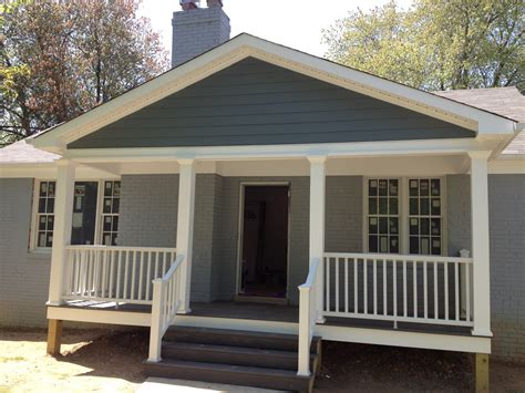the front porch exterior my auction house rehab