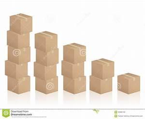 Cardboard Boxes Diagram Stock Photo