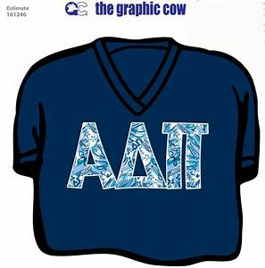 Alpha delta pi letter shirt with lilly print adpi for Adpi letter shirts