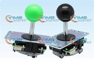 4pcs Of Official Original Sanwa Jlf Tp 8yt Joystick With 5 Pin Wiring Harness For Arcade Game