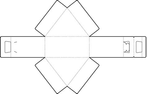 big triangle template printable triangle box template no 01 free box templates store