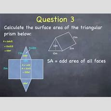 Surface Area Of Prisms Youtube
