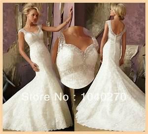 Cap sleeve sweetheart ivory chapel train beaed mermaid for Fishtail wedding dress