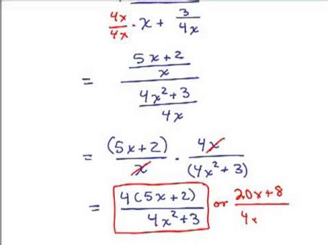 Simplify Complex Fractions 1 Youtube