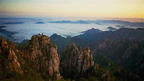 yellow mountains china ultra wallpapers