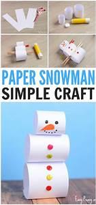 Simple, Paper, Snowman, Craft