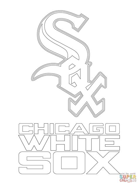 Chicago White Sox Logo Coloring Page Free Printable