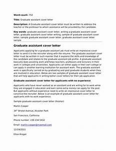 cover letter sample graduate assistantship With graduate assistantship cover letter examples