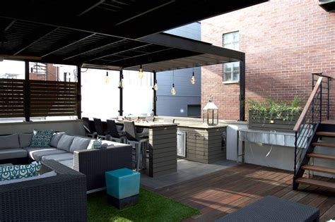 Garage Rooftop Deck West Town Chicago Rooftops