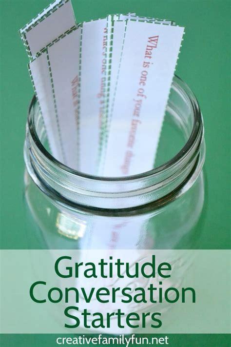 gratitude conversation starters  families gratitude