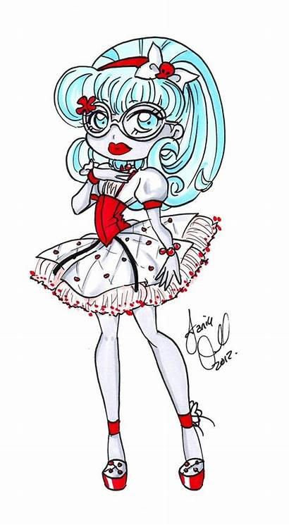 Monster Clipart Ghoulia Yelps Deviantart Clipground Cupid