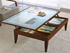 Elegant glass top coffee tables ideas glass dining room for Coffee table with storage and glass top