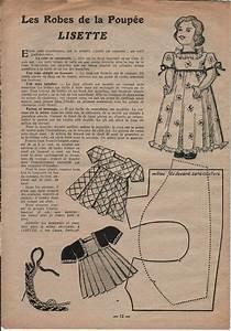 patron robe de poupee dans lisette doll clothes ideas With patron robe poupee barbie
