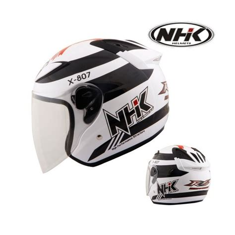 Half Helm Nhk R6 R 6 White helm nhk r6 x 807 pabrikhelm jual helm nhk