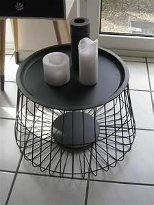 Drahtkorb Tisch Weiß : designer tisch beistelltisch metall mit deckel schwarz 56 36 cm neu furniture in 2019 ~ Yasmunasinghe.com Haus und Dekorationen