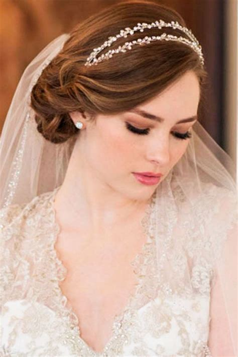 ideas  wedding hairstyles veil  pinterest