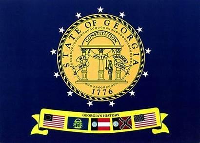 Flag Georgia State Confederate 1956 Current 2001