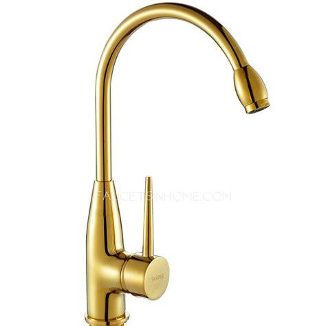 brass kitchen faucet polished brass gold vintage rotatable kitchen