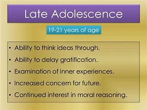Cognitive Development of Adolescents