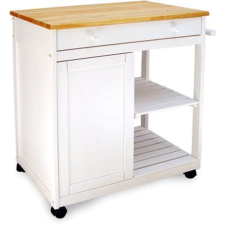Preston Hollow Kitchen Cart, White  Walmartcom
