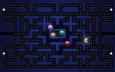 Old School Game Pacman Desktop Wallpaper