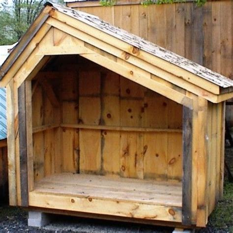 Firewood Shed Kit by Hearthstone Shed A Saltbox Woodbin That Holds 1 Cord Of