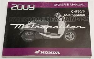 2009 Honda Chf50  S Owners Manual User Guide Chf50    S
