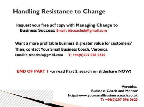 How To Handle Change by Tips On How To Handle Resistance To Change In Small