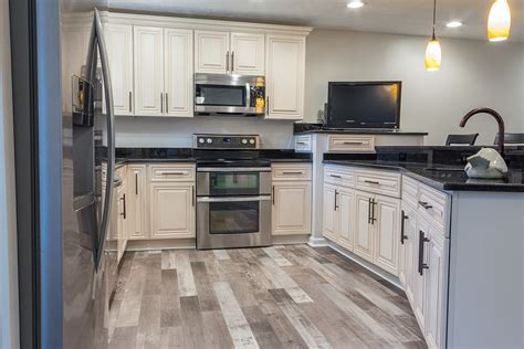 flooring for kitchen cabinets before and after house flip in ohio 6656