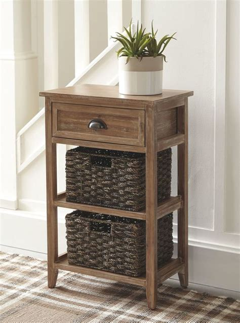 ashley oslember light brown accent table  sale  wcc