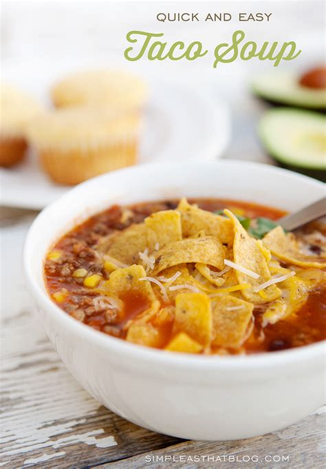 fast recipe quick and easy taco soup