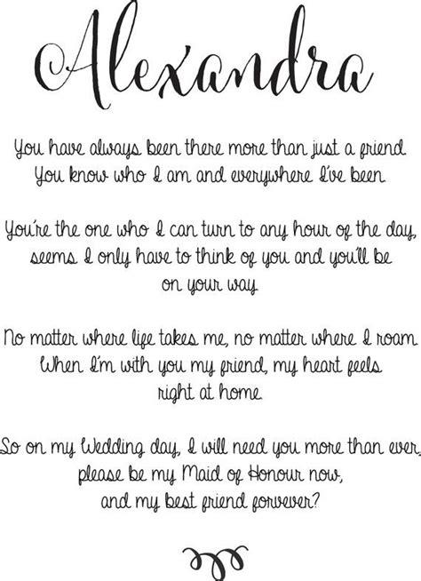 maid  honour  bridesmaid poem  charlesandwalter  etsy wedding ideas bridesmaid poems