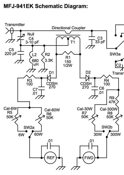 diy how should this swr meter s directional coupler work radio stack exchange