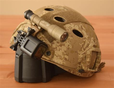 surefire helmet light rail mount unity tactical knuckl helmet mount as gopro mount the