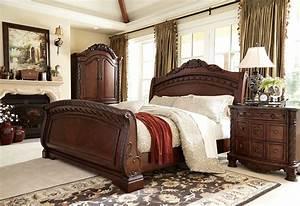 North shore sleigh bedroom set ashley furniture b553 for North shore bedroom set