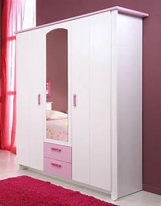 Kleiderschrank Für Mädchen : kleiderschrank beauty 11 136x181x56cm wei rosa 3 t rig ~ Michelbontemps.com Haus und Dekorationen