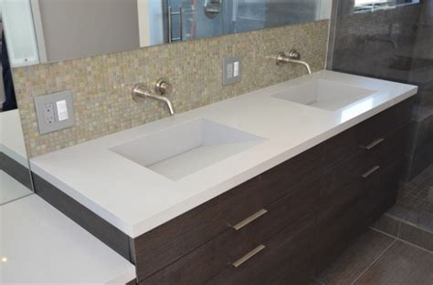 custom vanity top with integrated sink bathroom quartz integrated sinks modern vanity tops and