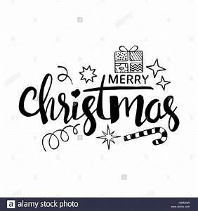 Merry Xmas Schriftzug : frohe weihnachten schriftzug moderne vektor handgezeichnete kalligraphie mit geschenk box ~ Buech-reservation.com Haus und Dekorationen