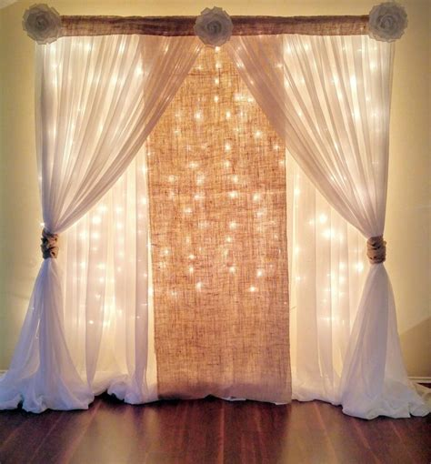 1000 ideas about curtain backdrop wedding on