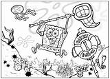Spongebob Coloring Pages Squarepants Bob Cartoons Sponge Animated Cartoon Friends Characters sketch template