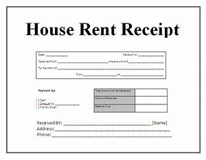 Free house rental invoice receipt template invoice for House rent invoice