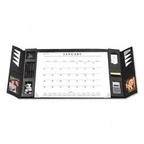 Leather Desk Blotter Calendar by At A Glance Executive Monthly Desk Blotter In Leather