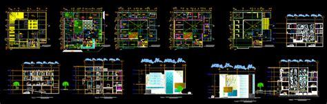 hostel elevation  dwg design plan  autocad designs cad