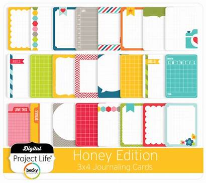 Honey Cards Journaling Edition 3x4 Project Digital