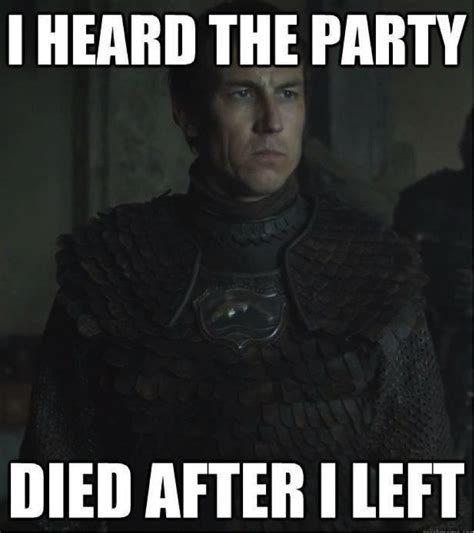Memes Game Of Thrones - red wedding party died meme motley news photos and fun