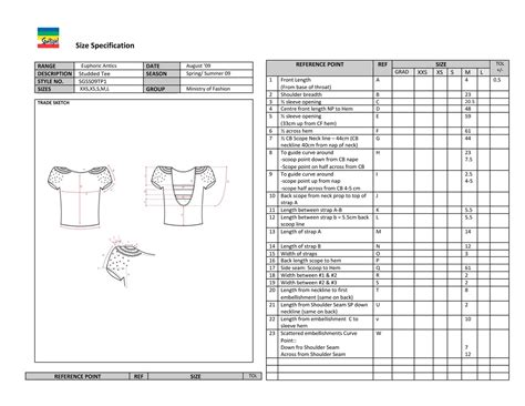 specification sheet fashionat