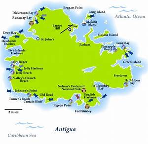 Antigua Map Antigua and Barbuda is the north easternmost ...