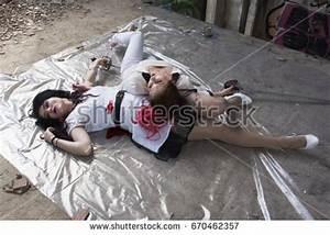 Crime Scene Dead Body Murdered Girl Stock Photo 155125961 ...